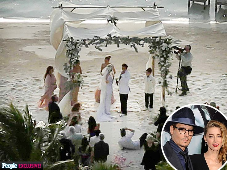 PHOTOS: Inside Johnny Depp and Amber Heard's Private Island Wedding Ceremony http://www.people.com/article/johnny-depp-amber-heard-wedding-photos