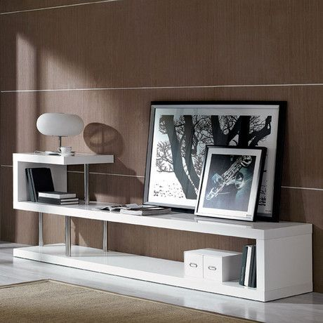 The WIN5 Modern White Lacquer TV Stand has a unique modern design that will make your house elegant and stylish. DIY furniture isn't good enough for your favorite electronics; what you need is this elegant display.