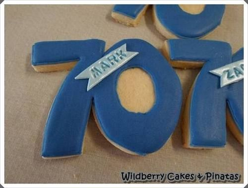 70 Birthday Biscuits