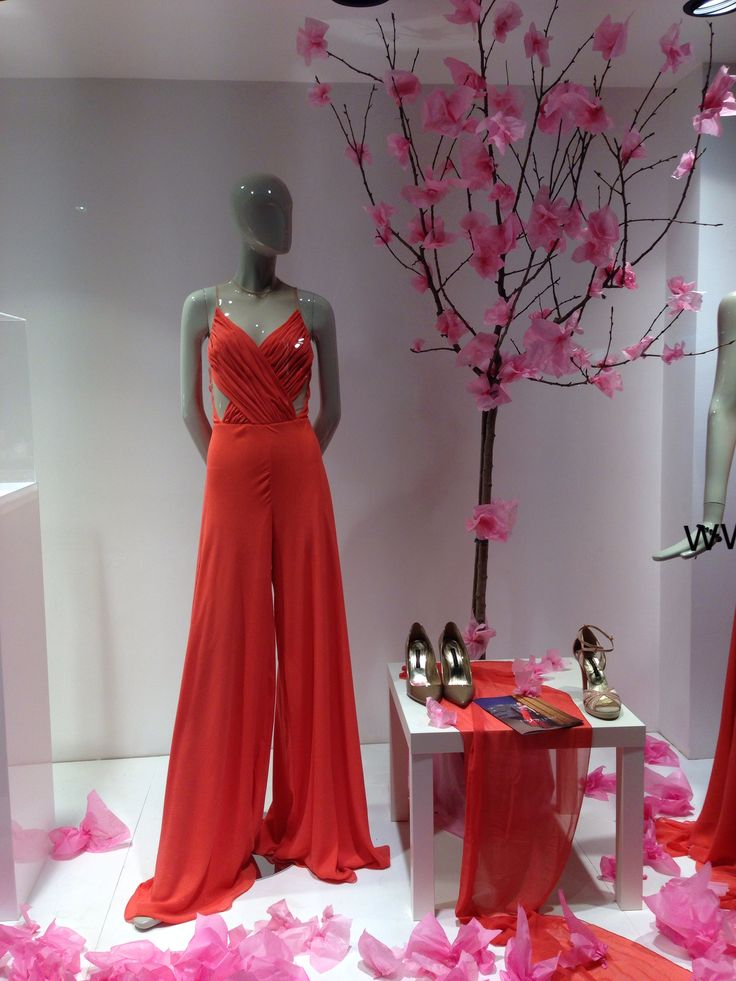 Silk Amarisso New York Coral Jumpsuit with an illusion.