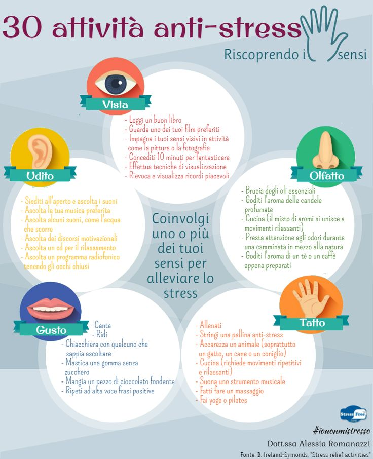 Io Non Mi Stresso - Psicologa Ansia e Stress Saronno: 30 attività anti-stress - Riscoprendo i 5 sensi