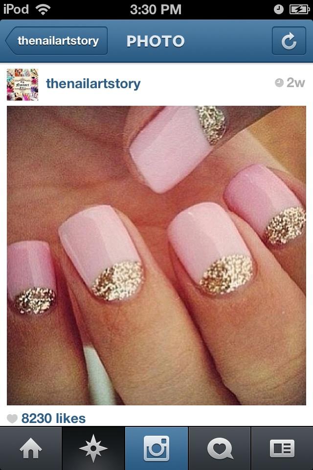 cute chic nail design art