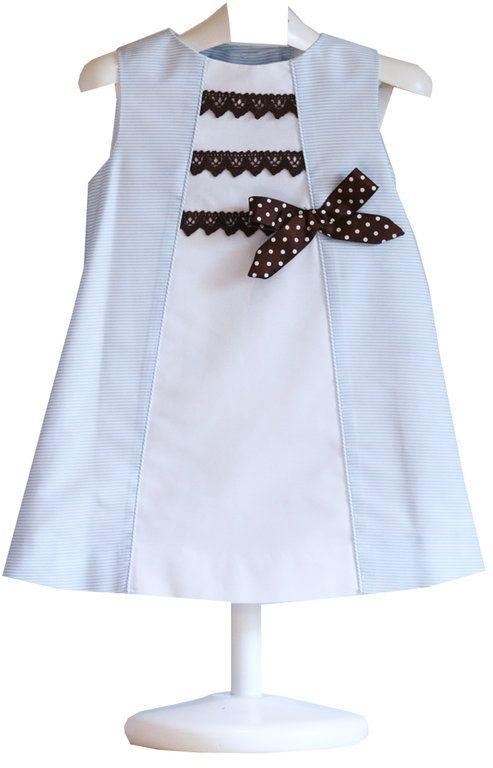 Vestido niña-lazo marrón - demelocoton.com