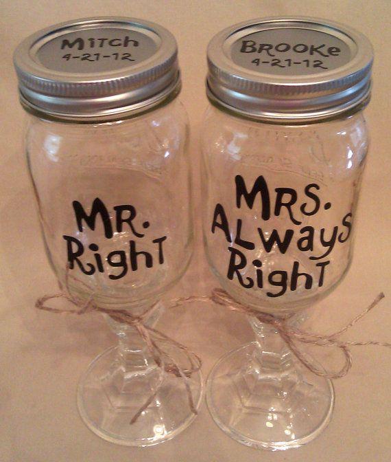 Custom Hillbilly REDNECK WINE GLASS for Bride & by PamsPolkaDots, $10.00