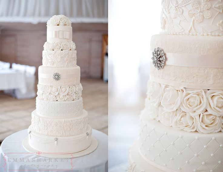 Emma Sharkey Adelaide Wedding Photographer  Stephen a master cake maker created this amazing 7 tiered wedding cake for his bride Carly as a surprise for her. It's covered completely in ivory detail, each layer different to the other and includes hand piped lace work and diamonte details. It's just precious.