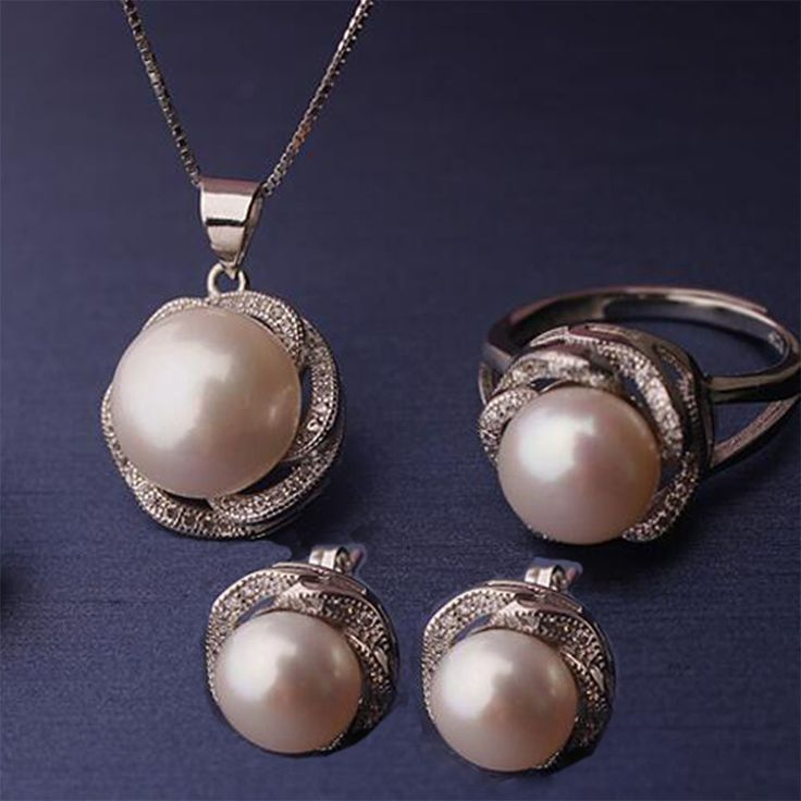 Find More Jewelry Sets Information about 2017 Fashwater Pearl Women's Fine 10 11mm Bridal Jewelry Set 3 Color S925 Silver Sterling Button Pendants/ring/Earrings ,High Quality jewelry sets,China pearl jewelry set Suppliers, Cheap fine pearl jewelry from Liv cabin on Aliexpress.com