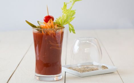 Garden Bloody Caesar   Garnish with Epicure Quickles and lots of fresh veggies for added wow.