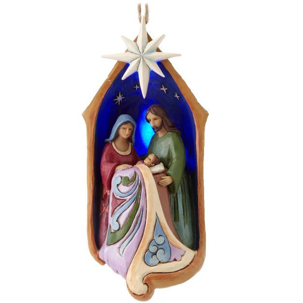 Holy Family With Angel Hair Glass Ornament: 20 Best JIM SHORE...NATIVITY ORNAMENTS Images On Pinterest