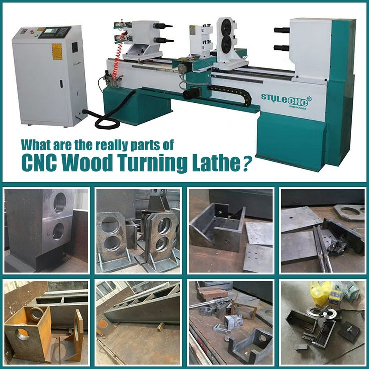 What are the really parts of a CNC wood turning lathe machine?  http://www.stylecnc.com/wood-lathe/