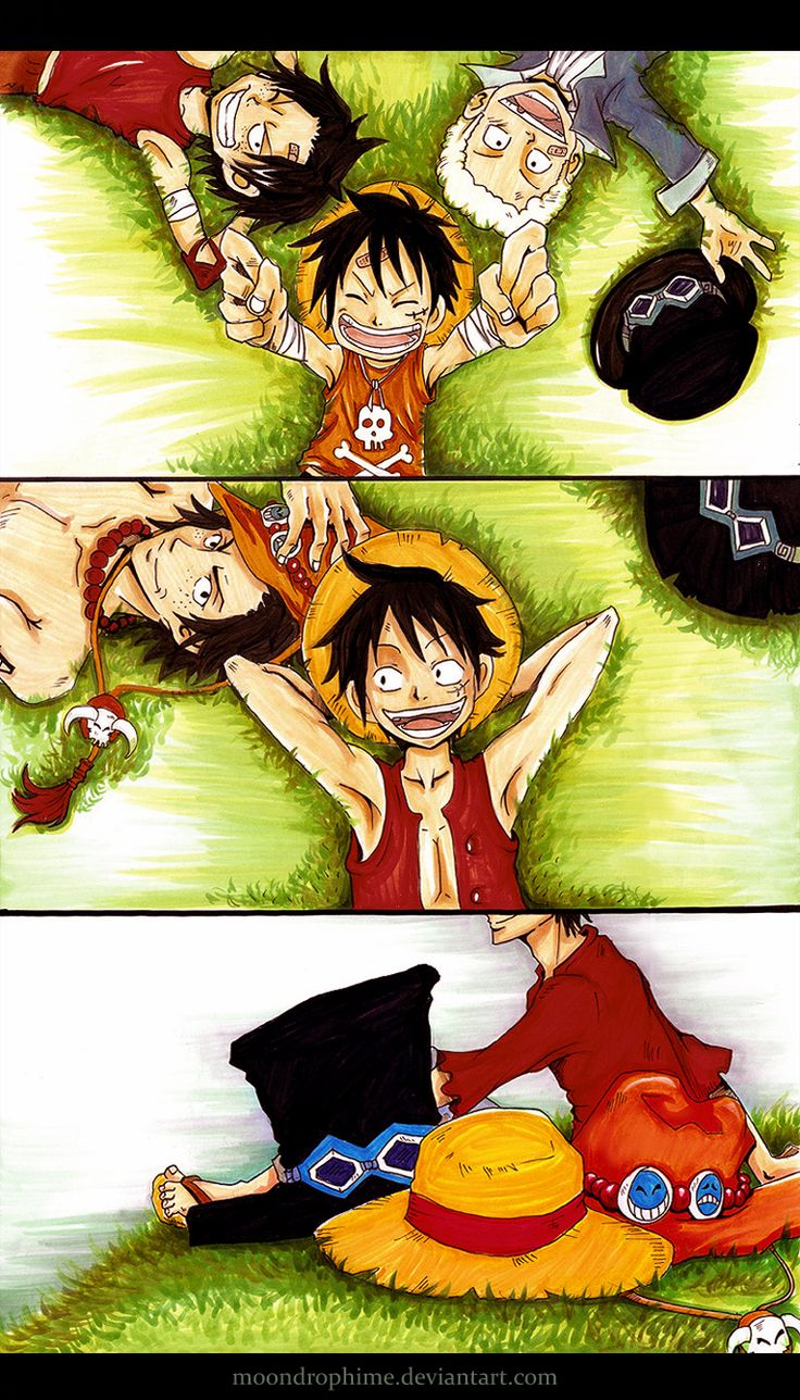 Luffy, Sabo, and Ace! I know this picture will change again when we find out Sabo is still alive. I agree with all the fanart I've been seeing: Sabo should TOTALLY eat the Flare-Flare Fruit!