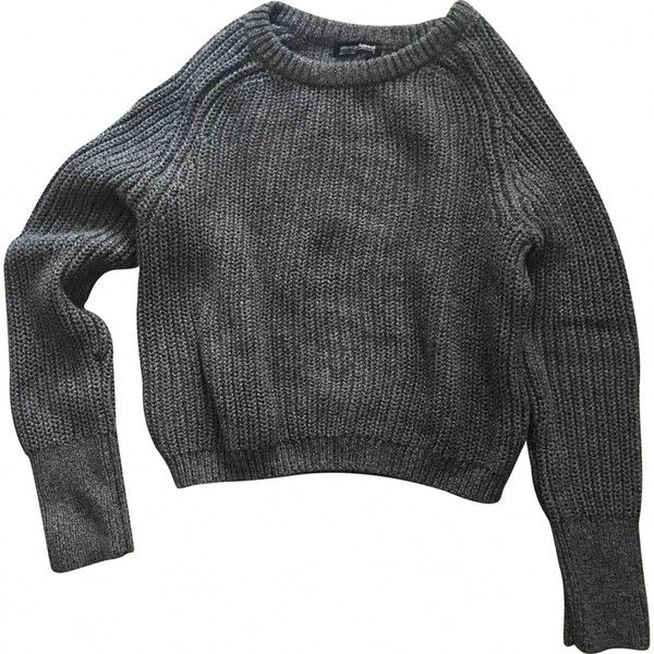Jumper AMERICAN APPAREL ($51) ❤ liked on Polyvore featuring tops, sweaters, jumpers, gray top, cotton jumpers, american apparel sweater, grey jumper and jumpers sweaters