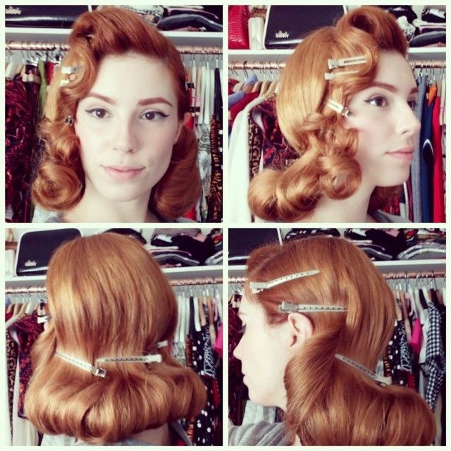 And then… #retrohair #hotrollers #redhead #vintagehair #fifties