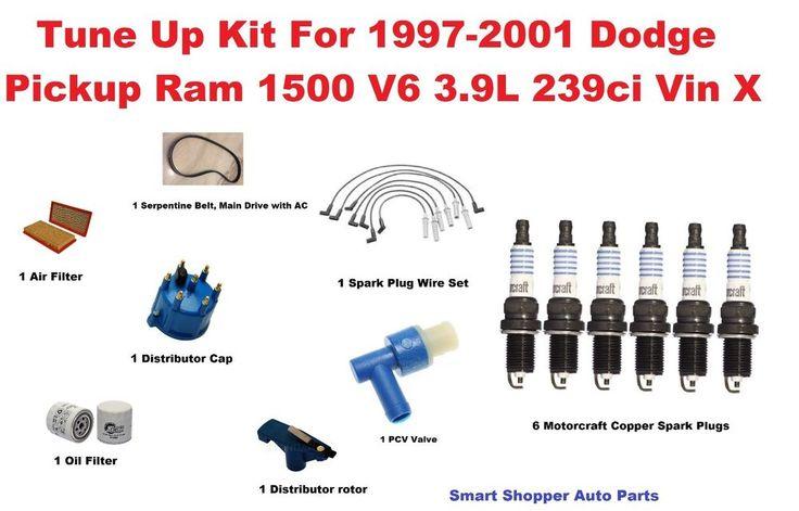 Tune Up Kit for 1997-2001 Dodge Pickup Ram 1500 Serpentine Belt, Air Oil Filter