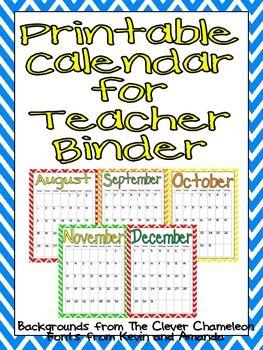 FREE Printable Calendar 2013-2014
