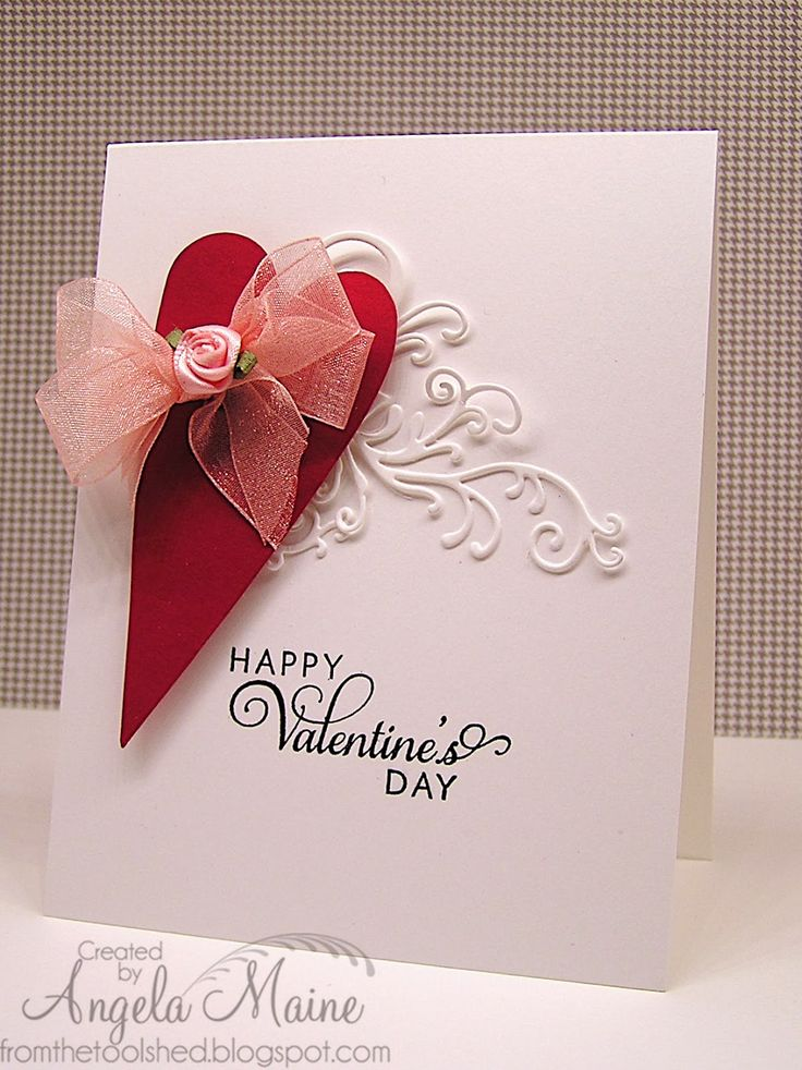 Valentine card by Angela Maine using the Happy Valentine's day plain jane from Verve.  #vervestamps