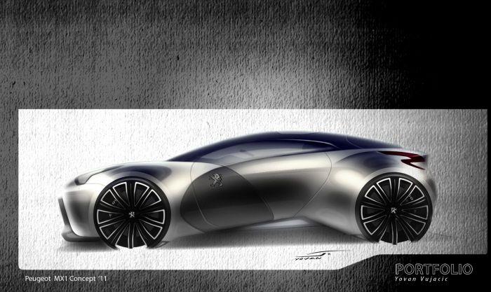 Peugeot Mx1 Conceptcar By Yovan Vujacic Peugeot