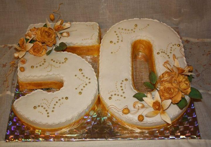 Украсить торт юбилейный 50 лет
