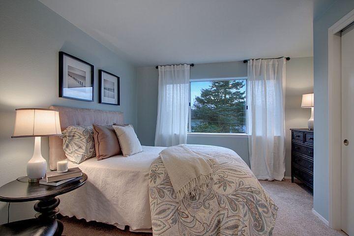 Beautiful sherwin williams rainwashed technique seattle for Beautiful traditional bedroom ideas