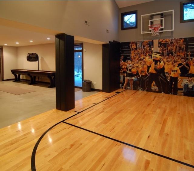 Indoor Basketball Court Obviously I 39 D Make It Nebraska