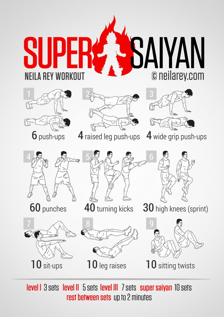 Super Saiyan Workout /// Goku, Gohan, Vegeta... if that is not inspiration then I do not know what is