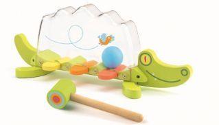 Cocodrilo sonoro en forma de xilófono, fabricado en madera con divertidos colores.  A partir de 18 meses.