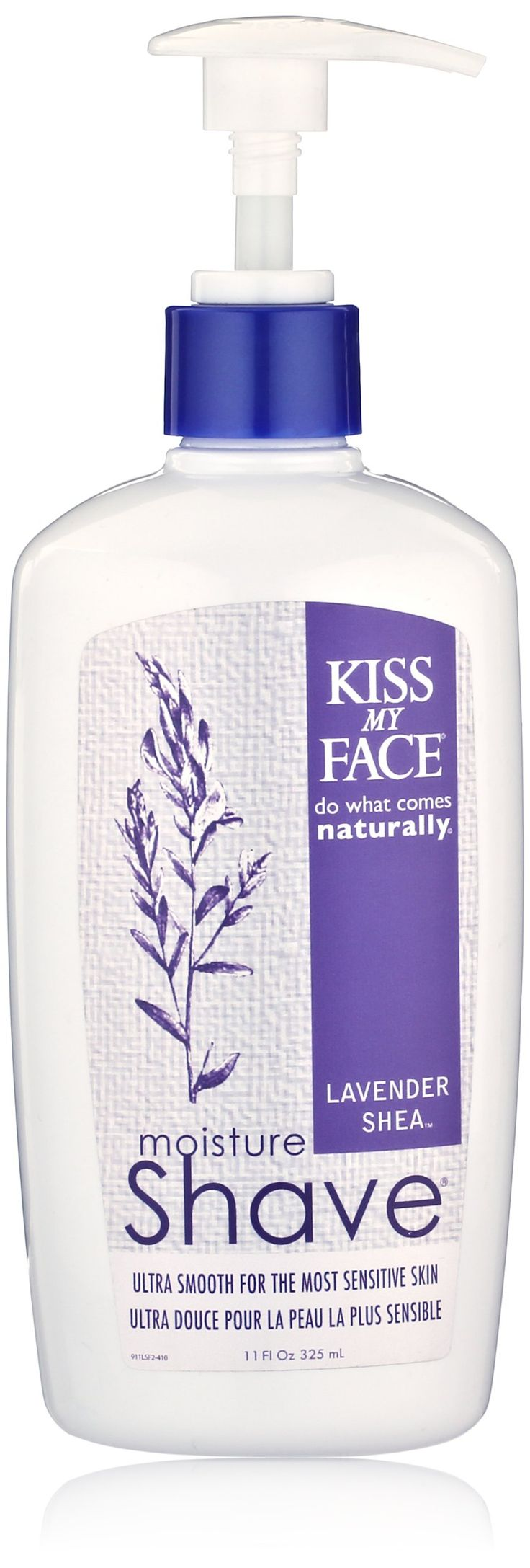 Kiss My Face Moisture Shave, Lavender & Shea , 11 oz. For face & body. Non-aerosol. Olive Oil & Aloe Vera to moisturize the skin. Goldenseal to protect against nicks and scratches.