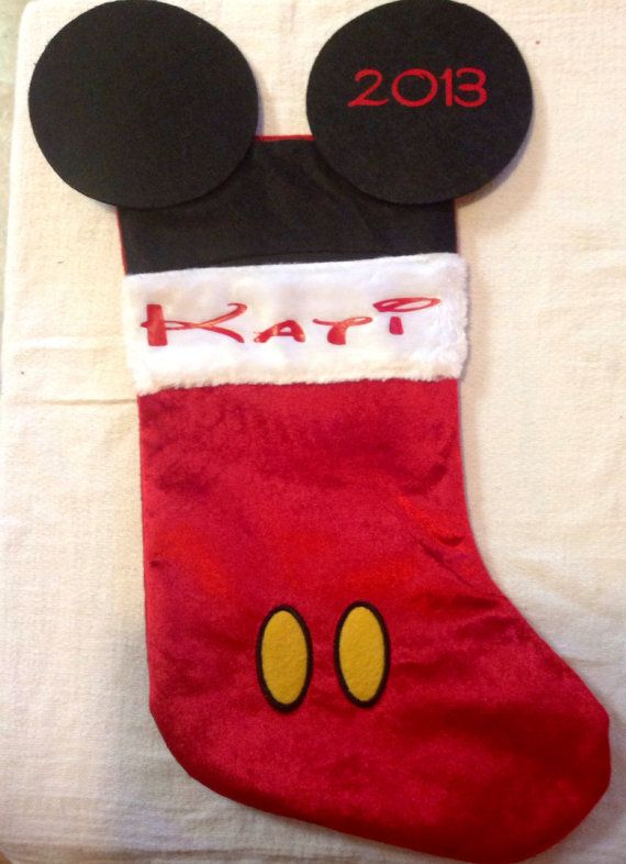 Personalized Mickey Mouse stocking