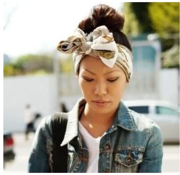 how to wear a headscarf with no hair