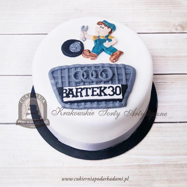 194BA. Tort dla mechanika – fana marki AUDI. Birthday cake for a mechanic – an Audi fan.