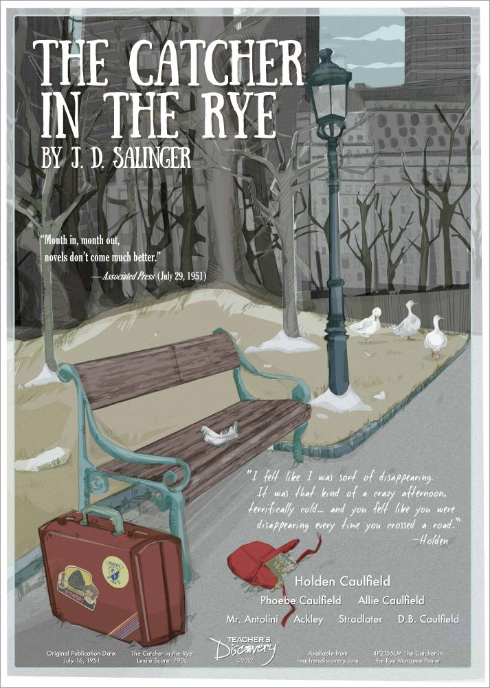 The Catcher In The Rye Marquee Poster Catcher In The Rye Classic Literature Posters Literature Posters