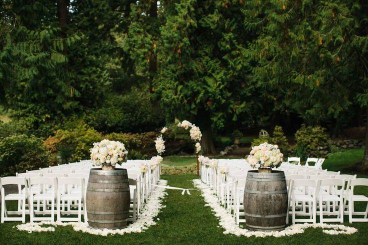 Flora Nova Design Seattle - Outdoor Wedding Ceremony Floral arch