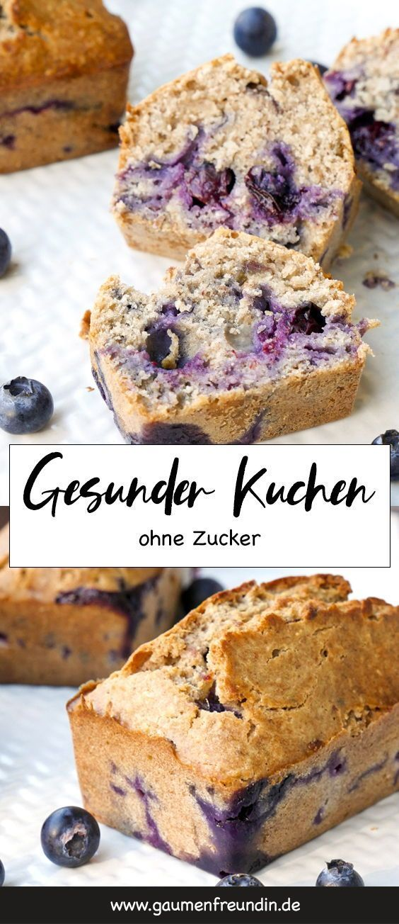 The delicious blueberry cake is full of healthy ingredients, such as chia seeds, c …   – BACKEN FÜR KINDER | kids baking