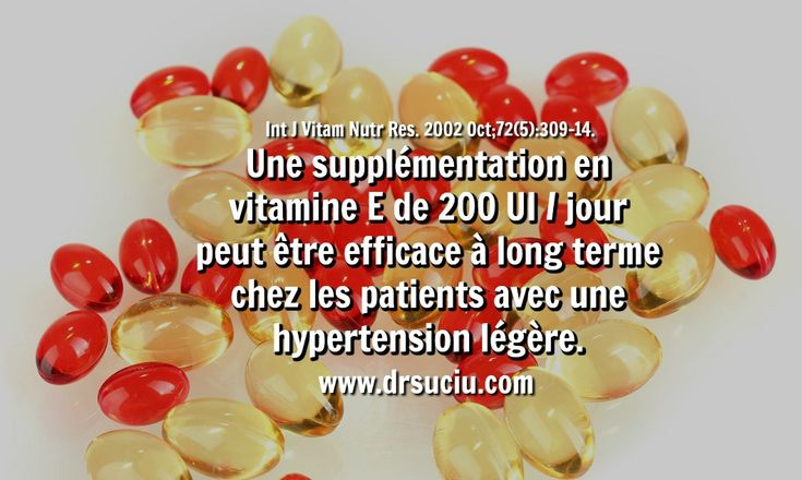 Photo La vitamine E en cas d'hypertension artérielle - drsuciu