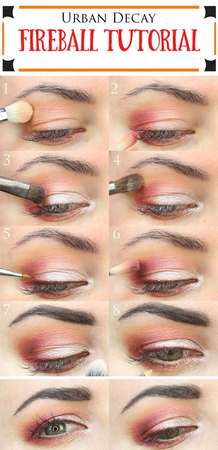 Urban Decay Fireball Tutorial. This is a great duochrome eyeshadow tutorial for all eye shapes, but especially nice for hooded or monolid eyes. I used Urban Decay Fireball, Vape, Relish, Punk and ABC Gum. You could recreate this with the Anastasia Beverly Hills Modern Renaissance palette too.