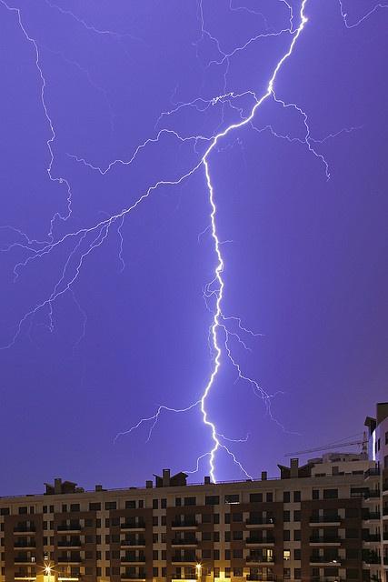 Lightning storm in Lisbon, Portugal by Pedro Moura Pinheiro.