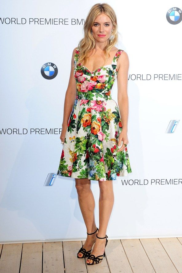 Sienna Miller at the BMW i3 launch in London - celebrity fashion