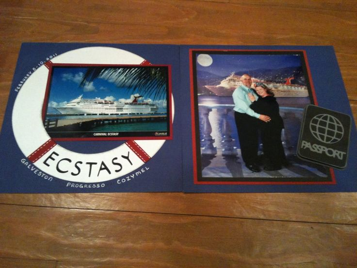 scrapbook cruise title page layouts | Creative Memories TRAVELOR - Cruise Layout