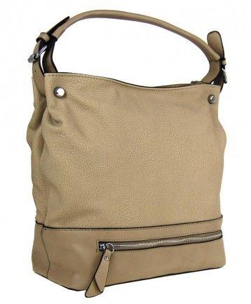 Velká kabelka na rameno TH2032 přírodní hnědá - Kliknutím zobrazíte detail obrázku.