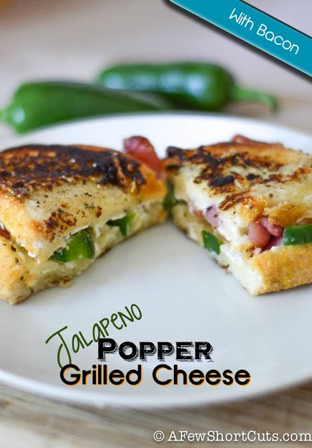 Jalapeno Popper Grilled Cheese Sandwich - Nice and Spicy