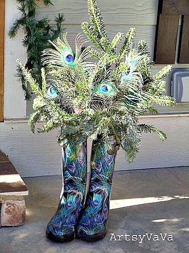 Christmas Peacock Porch