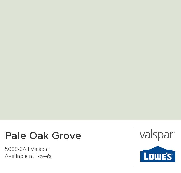 Pale Oak Grove from Valspar
