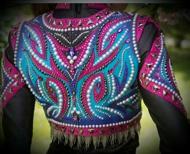 Applique designs western show shirt
