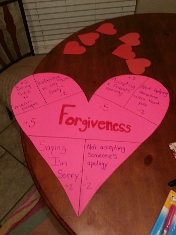 Forgiveness Craft For Kids 1000 Images About Character Ed