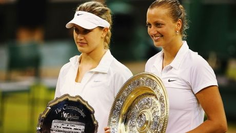 Eugenie Bouchard falls in straight sets in Wimbledon final. Winner is Petra Kvitova.