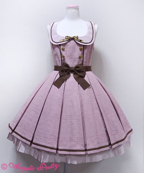 This looks like the Angelic Pretty Melty Chocolate series in pink, I love the muted colour it makes the dress seem more mature