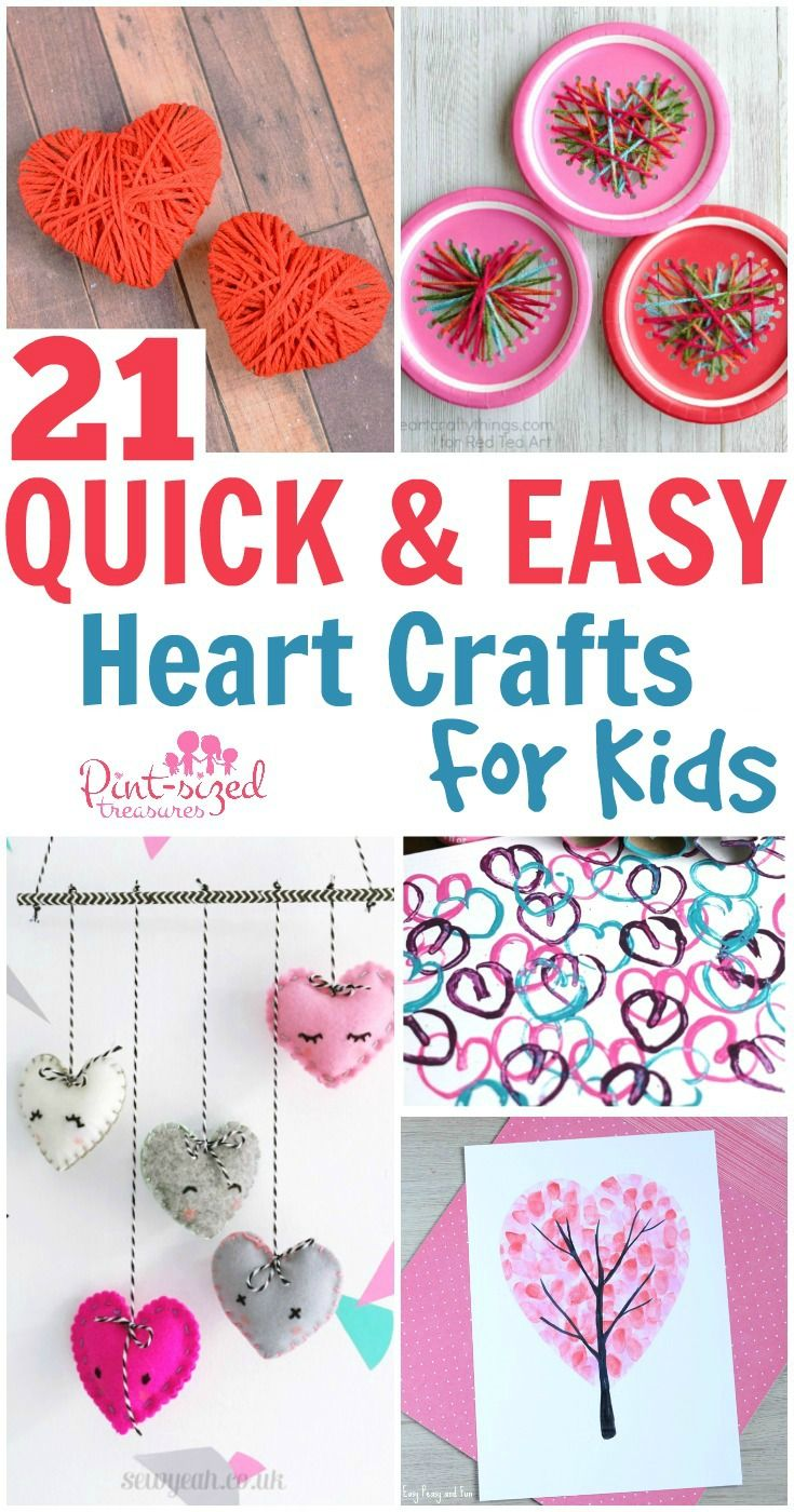 Quick and easy valentine crafts - 21 Quick And Easy Heart Crafts For Kids