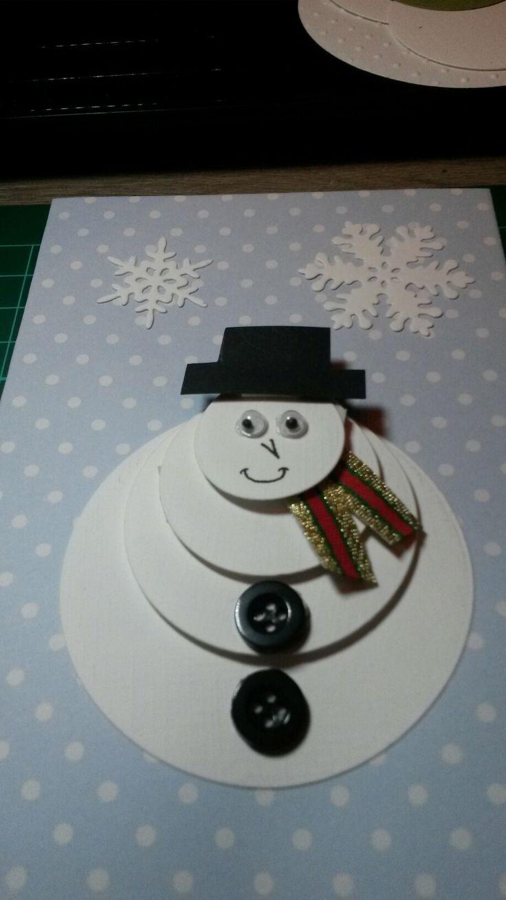 Sneeuwpop-kaart