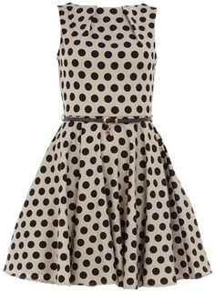 Nice White Dress with Black Dots