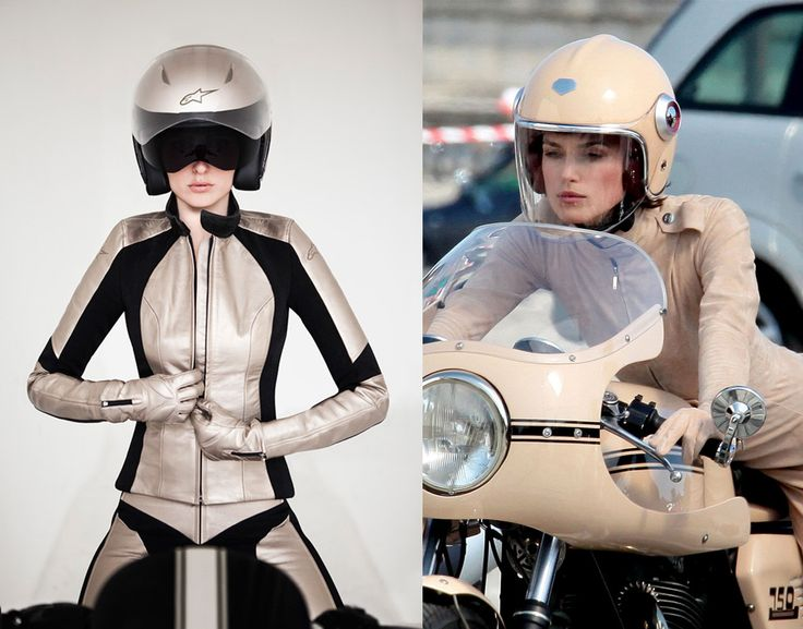 Trendy, Chic Motorcycle Suit for Ladies Has the Keira Knightley Look   Motorcycle Blog of Leatherup.com