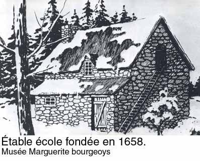 Étable école fondée en 1658 - Musée Marguerite-Bourgeoys